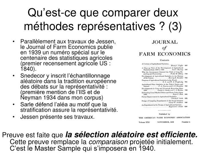 Parallèlement aux travaux de Jessen, le Journal of Farm Economics publie en 1939 un numéro spécial sur le centenaire des statistiques agricoles (premier recensement agricole US : 1840).