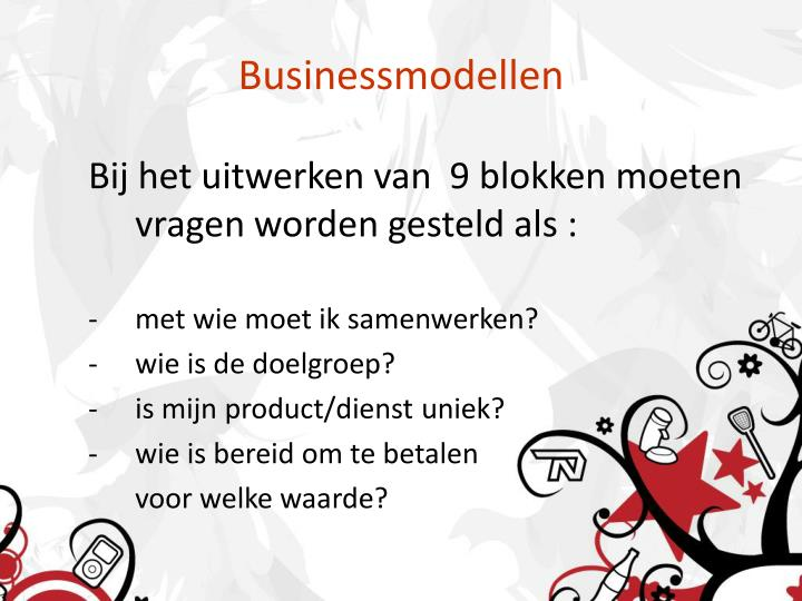 Businessmodellen