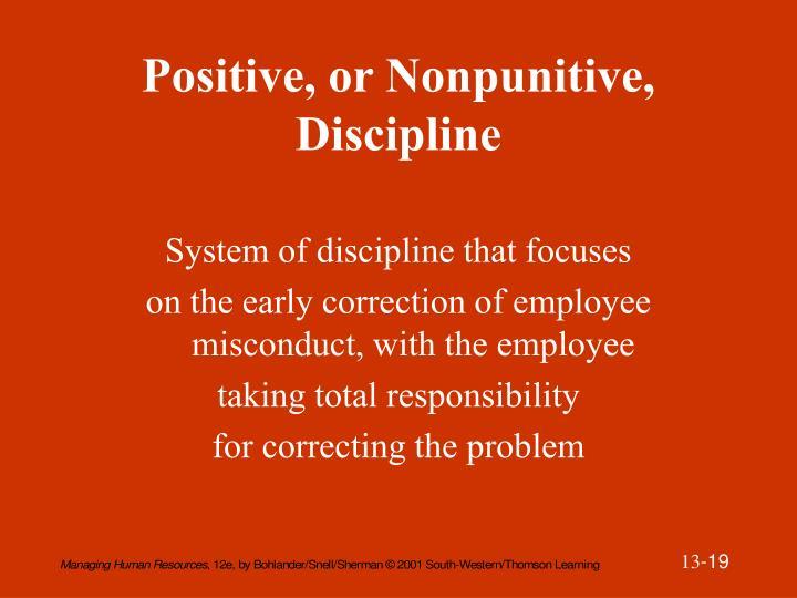 Positive, or Nonpunitive, Discipline