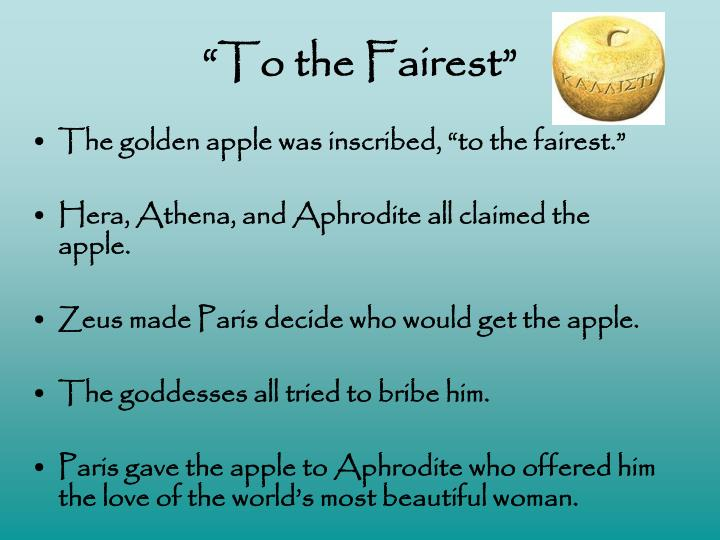 """To the Fairest"""