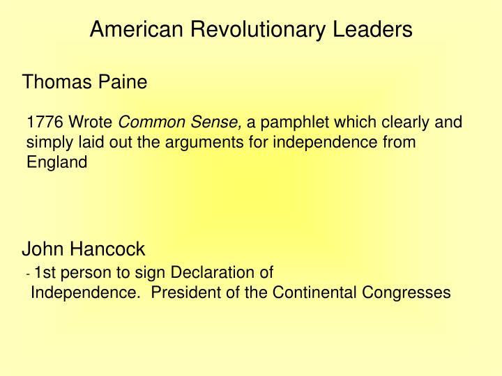 American Revolutionary Leaders