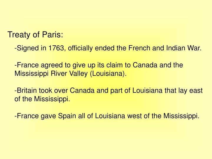Treaty of Paris:
