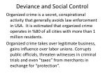 deviance and social control11