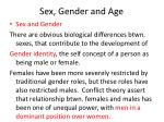 sex gender and age