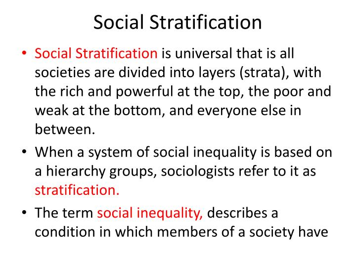 Social Stratification