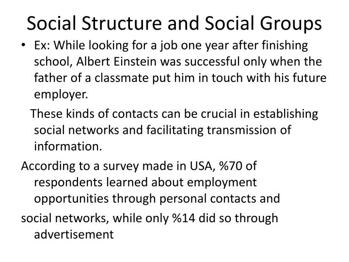 Social Structure and Social Groups