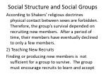 social structure and social groups26