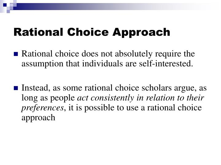 Rational choice approach1