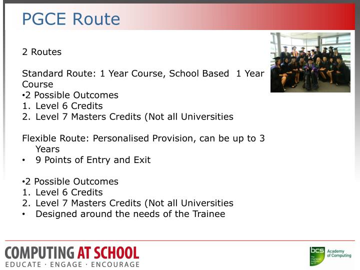 PGCE Route