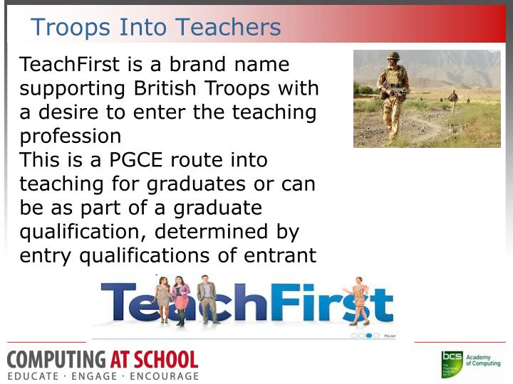 Troops Into Teachers