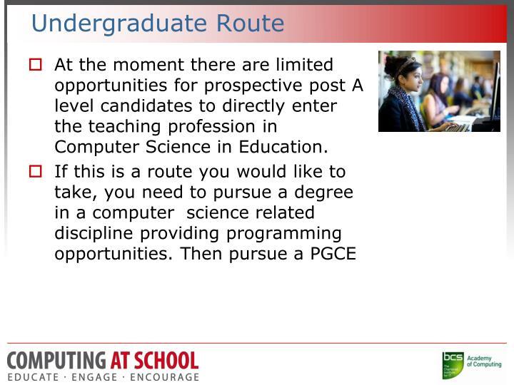 Undergraduate Route
