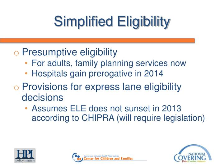 Simplified Eligibility