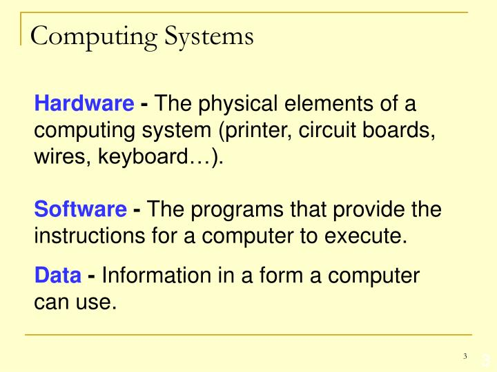 Computing systems1