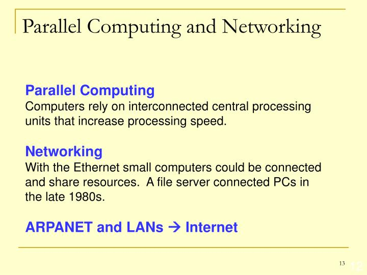 Parallel Computing and Networking