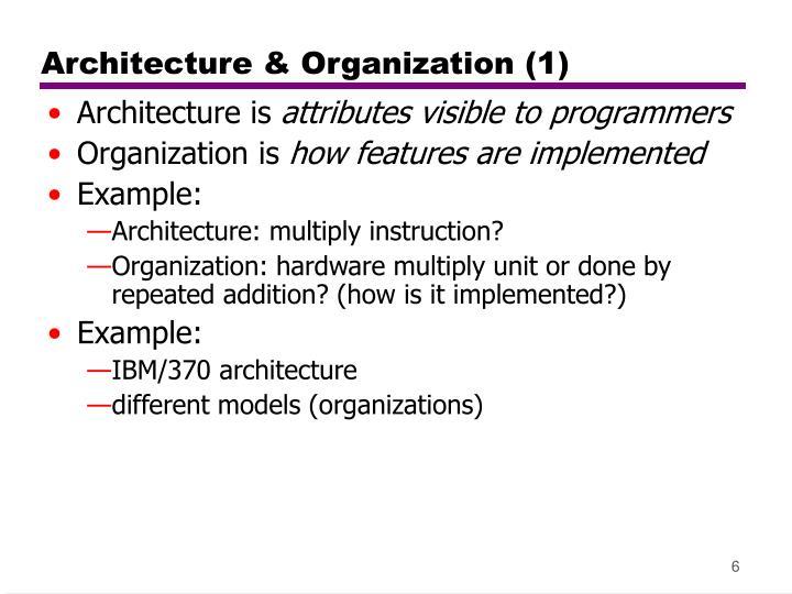 Architecture & Organization (1)