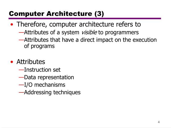 Computer Architecture (3)