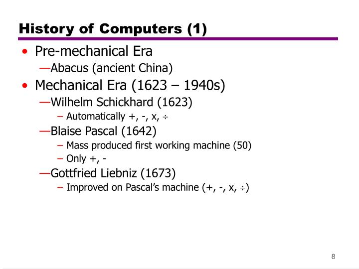 History of Computers (1)