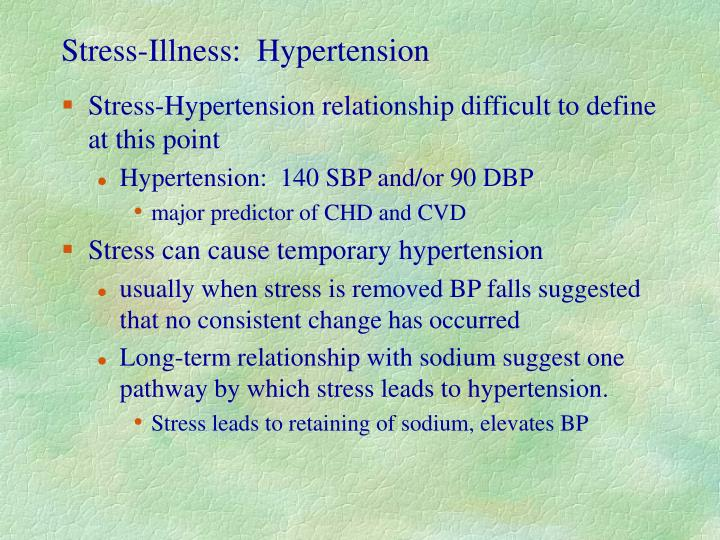 Stress-Illness:  Hypertension