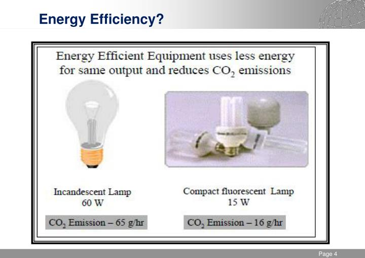 Energy Efficiency?