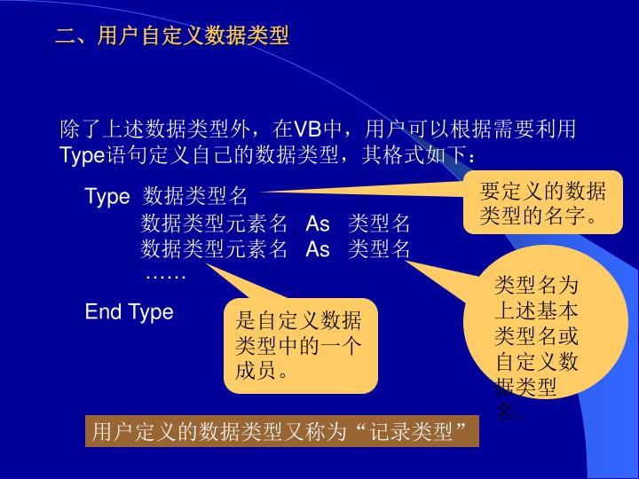 二、用户自定义数据类型