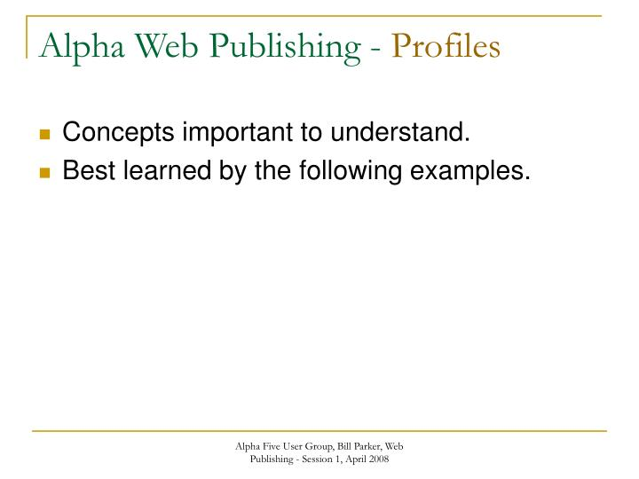 Alpha Web Publishing -