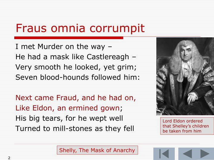 Fraus omnia corrumpit