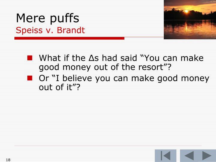 Mere puffs