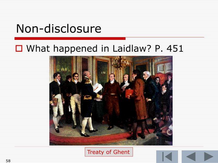 Non-disclosure