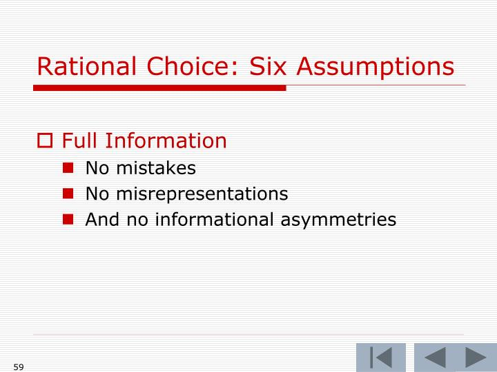 Rational Choice: Six Assumptions