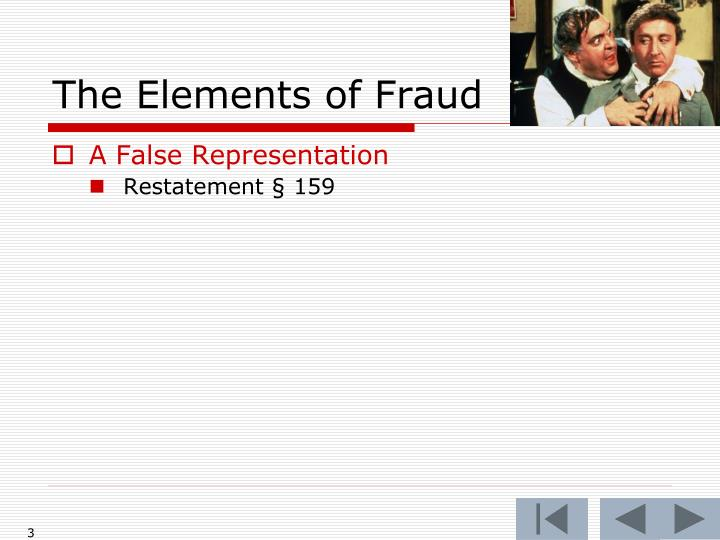 The Elements of Fraud
