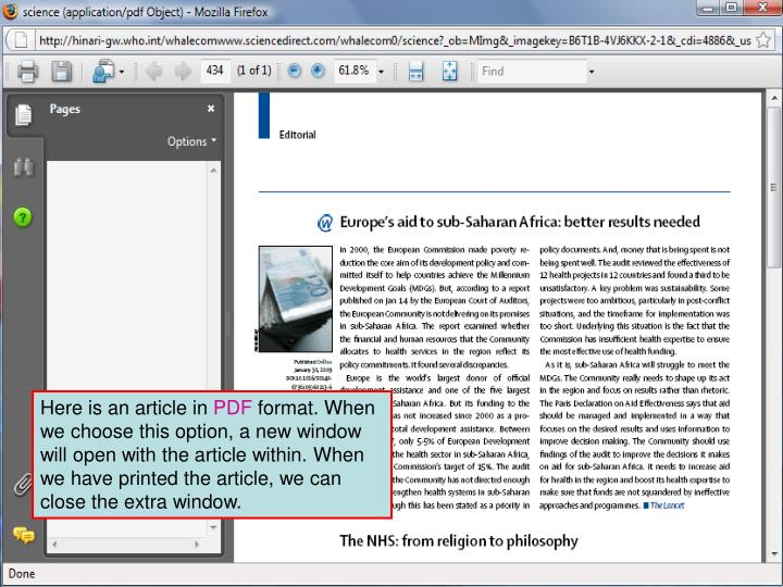 Add how to print article and note also can save or email...