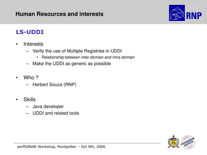 Human Resources and interests