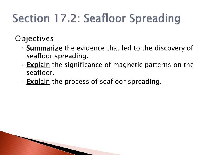 Section 17.2: Seafloor