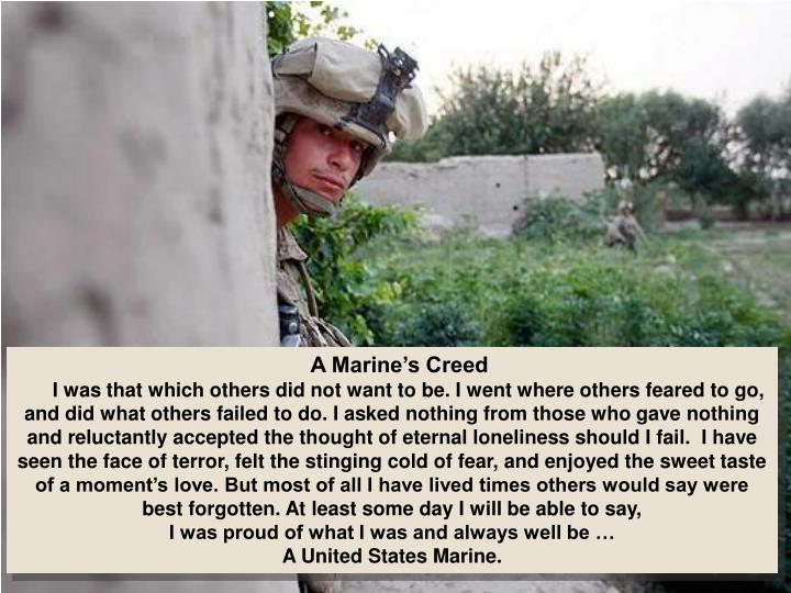 A Marine's Creed