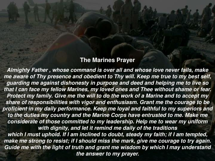 The Marines Prayer
