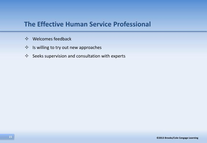 The Effective Human Service Professional