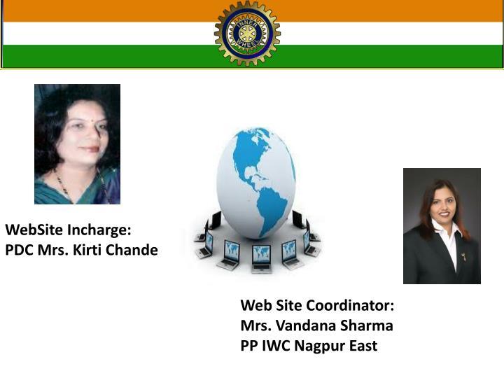 WebSite Incharge: