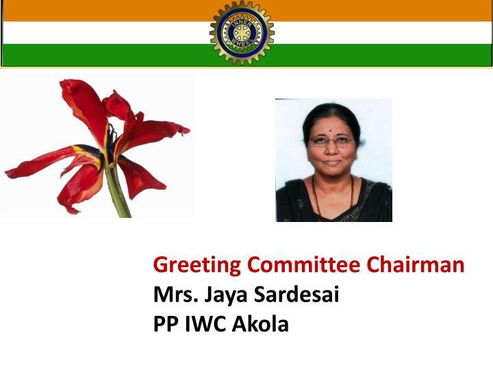 Greeting Committee Chairman