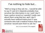 i ve nothing to hide but