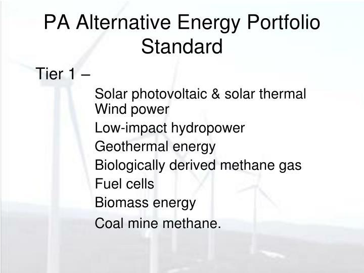 PA Alternative Energy Portfolio Standard