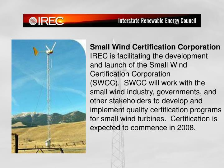 Small Wind Certification Corporation