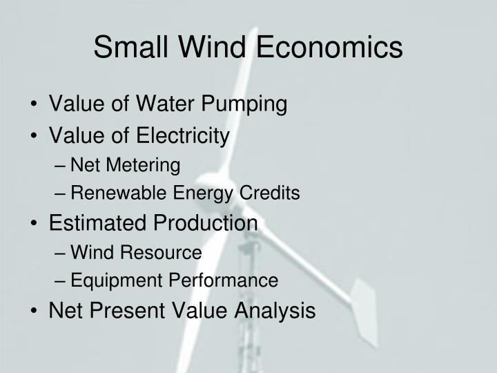 Small Wind Economics