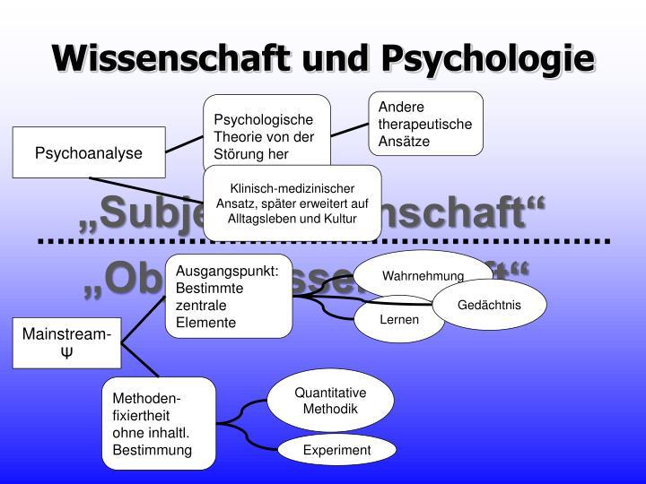 Wissenschaft und Psychologie