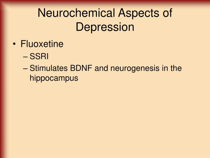 Neurochemical Aspects of Depression