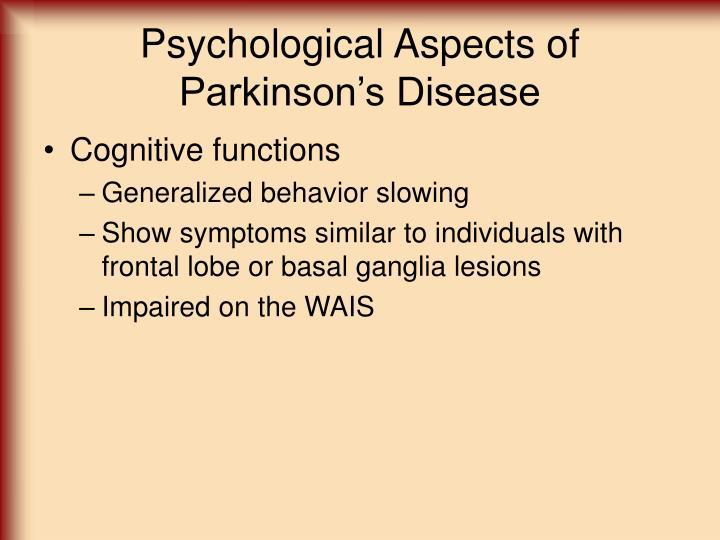 Psychological Aspects of Parkinson's Disease