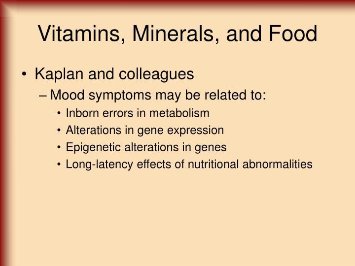 Vitamins, Minerals, and Food