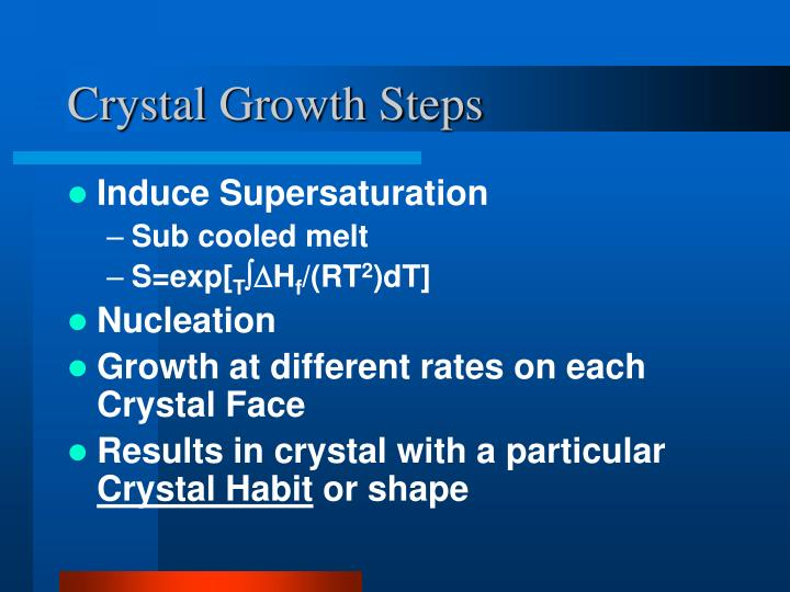 Crystal Growth Steps