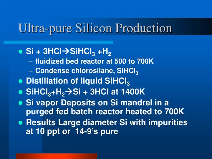 Ultra-pure Silicon Production