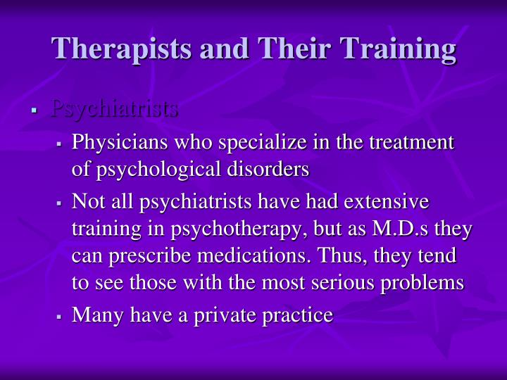 Therapists and