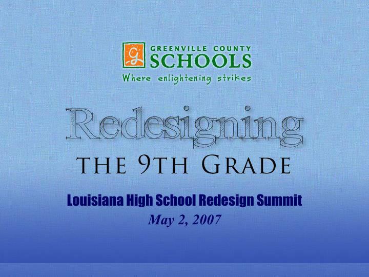 Louisiana High School Redesign Summit